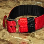 "NATO Nylon Watch Strap BLUE / BLACK Two Sided Strap which can be reversed with no tools 10"" comes with free set of spring bars 20MM"