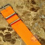 "NATO STRAP G-10 Military Nylon Solid orange 20mm 10"" with free spring bars"