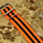 NATO STRAP G-10 Military Nylon 5 Stripe orange / black 20mm
