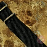 """NATO STRAP G-10 Military Nylon Solid black 20mm 10"""" with free spring bars"""