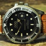 OUT OF ORDER Quartz / Brown Croco Leather / 40mm Vintage Submariner