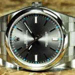 Rolex Oyster Perpetual 39mm ref 114300 Rhodium Silver Index Never Worn